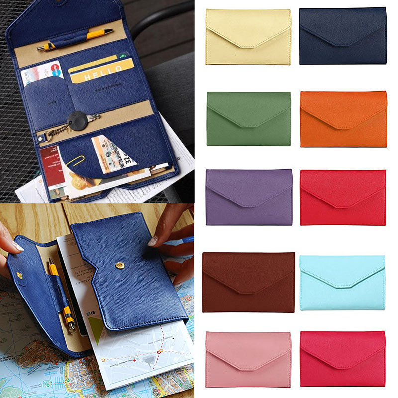 Famous Brand New Multifunctional Temperament Fashion Passport Bag Womens Thin Soft Travel Documents Purse bolsa carteras mujer ...