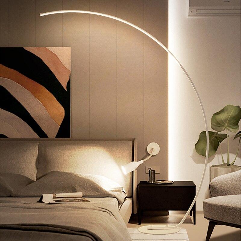 Led Moderne Eenvoudige Floor Lamp Staande Lamp Art Decoratie Nordic Stijl Voor Woonkamer Slaapkamer Studeerkamer Licht - 3