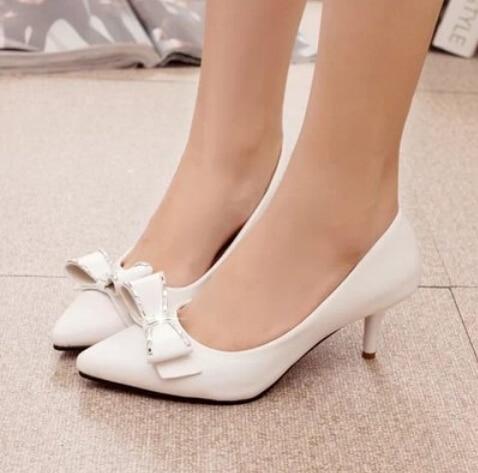 Aliexpress.com : Buy Free shipping women low heels Bow shoes 5cm