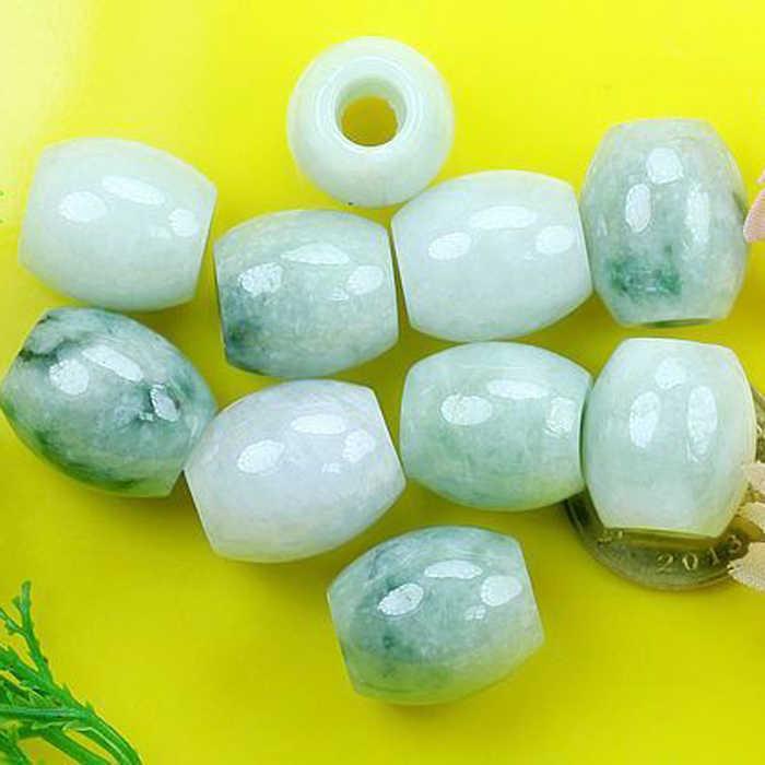 Naturalny jadeit, jadeit, duża dziura, droga transferowa, przełęcz drogowy, luźne koraliki, partie DIY tkana bransoletka, sznurek ręczny, męskie akcesoria