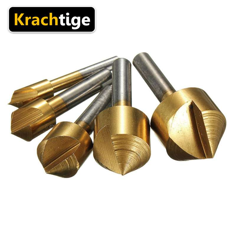 Krachtige 5pcs Trimming Carbide Cutter Rotary Milling CNC Engraving Bit Mold Grinding 6 10 13 16 19
