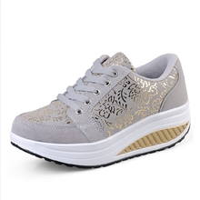 Dropship women casual shoes women summer outdoor shoes spring summer autumn lace up leather swing shoes