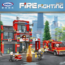 XINGBAO 14001-14006 City Forest Series Fire Fighting team Building Blocks MOC Bricks Compatible LegoINGlys City Firefighter(China)
