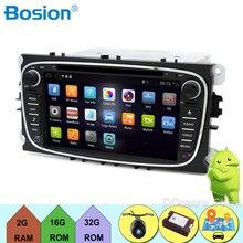 In Dash Android 7.1 Per ford focus 2 mondeo 2 Din autoradio GPS Navi Lettore DVD Stereo Video BT PC per auto CD WiFi 3G auto di parcheggio