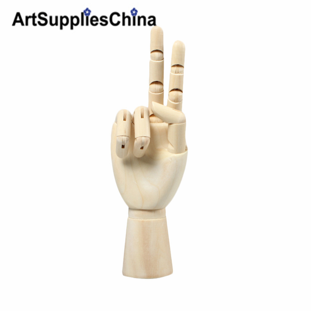 12 Hight Quantity Wooden Hand Model Flexible Moveable Fingers Manikin Hand Left Right Hand for Sketching Drawing Home Office jennifer taylor home sofa bed hand tufted hand painted and hand rub finished wooden legs 65000 584 859 865