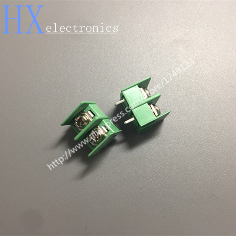 Free shipping 200PCS KF7.62-2P Terminal pitch 7.62mm pin connector can be spliced 2P green