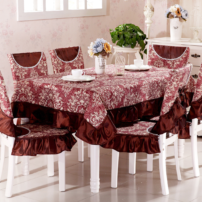 Top grade square dining table cloth chair covers cushion ...