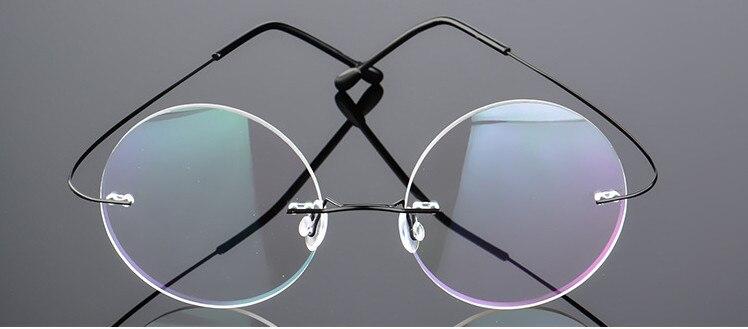 Este tipo de óculos sem aro miopia óculos, lentes de potência a partir  de-0.50 a-6.00. fc831e8b9b