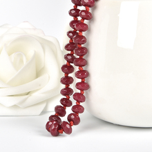 Warm  Red hot bead 5*8 mm ruby necklace,take everyone vitality. To love with fire hot sale sperm count board with red ruby