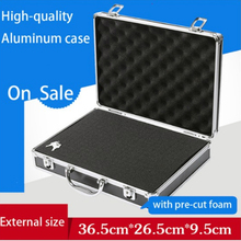 Aluminum Tool case suitcase toolbox password box File box Impact resistant safety case equipment camera case with pre-cut foam недорого