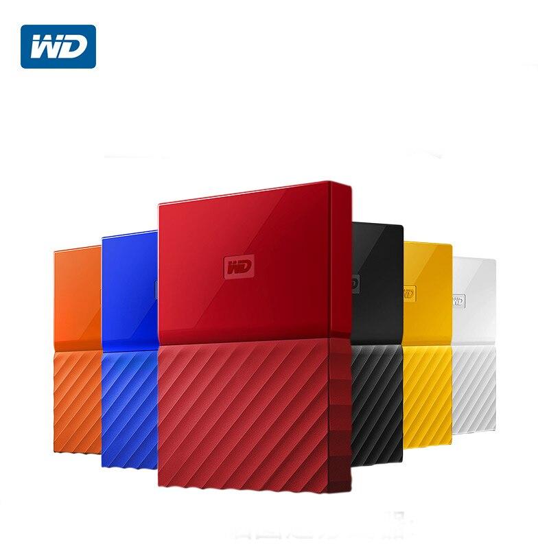 WD My Passport External Hard Drive Disk USB 3.0 1TB 1T 2T Portable Encryption HDD Storage Devices SATA 3 for Windows Mac maiwo k2533 2 5 sata usb 3 0 encryption keys portable disk cartridge black
