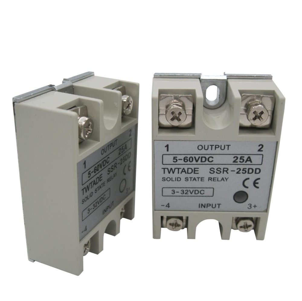 Online Shop Ssr 25da Dc Ac 25a Solid State Relays 220v Output 3 Relay Canada Twtade Single Phase 25dd 40dd 50dd