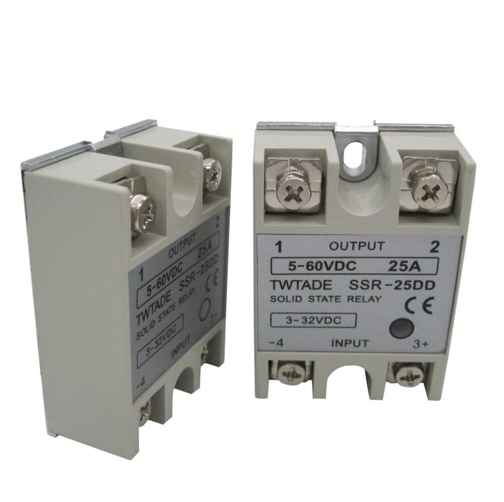 32/V vers DC 5 Twtade Ssr-40/DD 40/A DC 3 60/V SSR Solid State Relais Dissipateur de chaleur