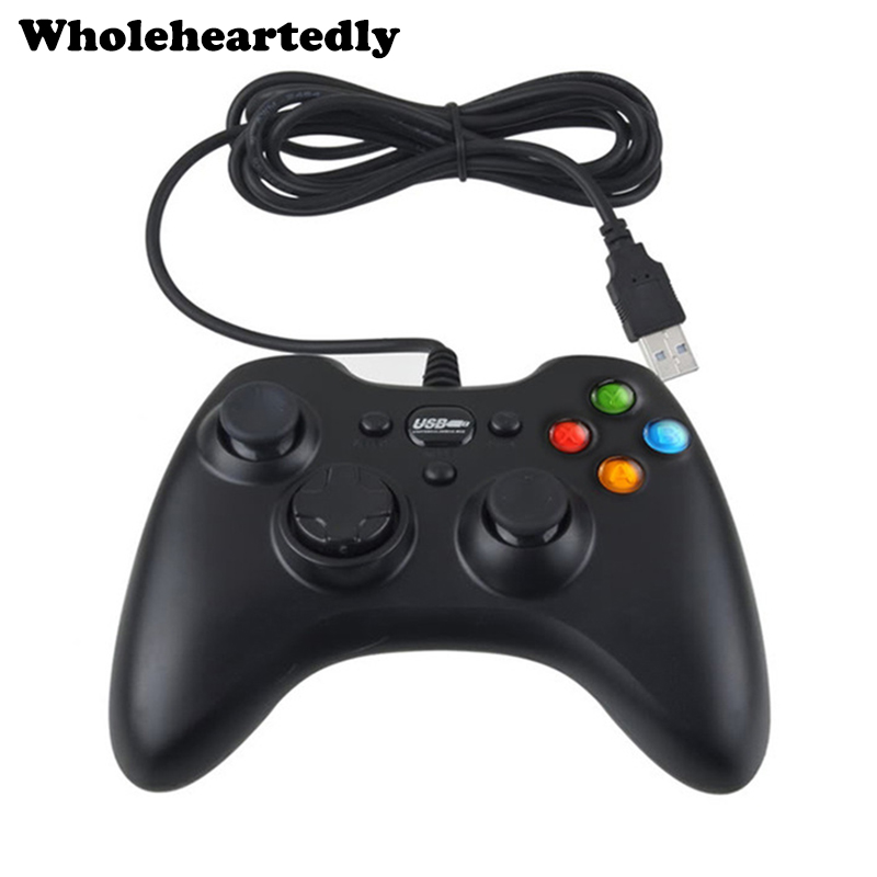 Brand New Wired USB PC Game Controller Håndtere dobbelt chok Joypad Remote Joystick Gamepad til pc bærbar computer Winows XP