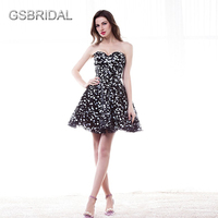 GSBRIDAL Off the Sweetheart Spalla Piccolo Puntino Bianco Prom Dress