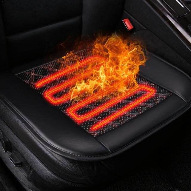 12V Heated Car Seat Cushion Strong Warm Seat Pad Single Black Color High Quality Not Break Even In The 40 Degrees Below Zero