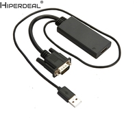 HIPERDEAL VGA To HDMI 1080P USB Power Adapter Converter Cable For Computer Laptop Oct27
