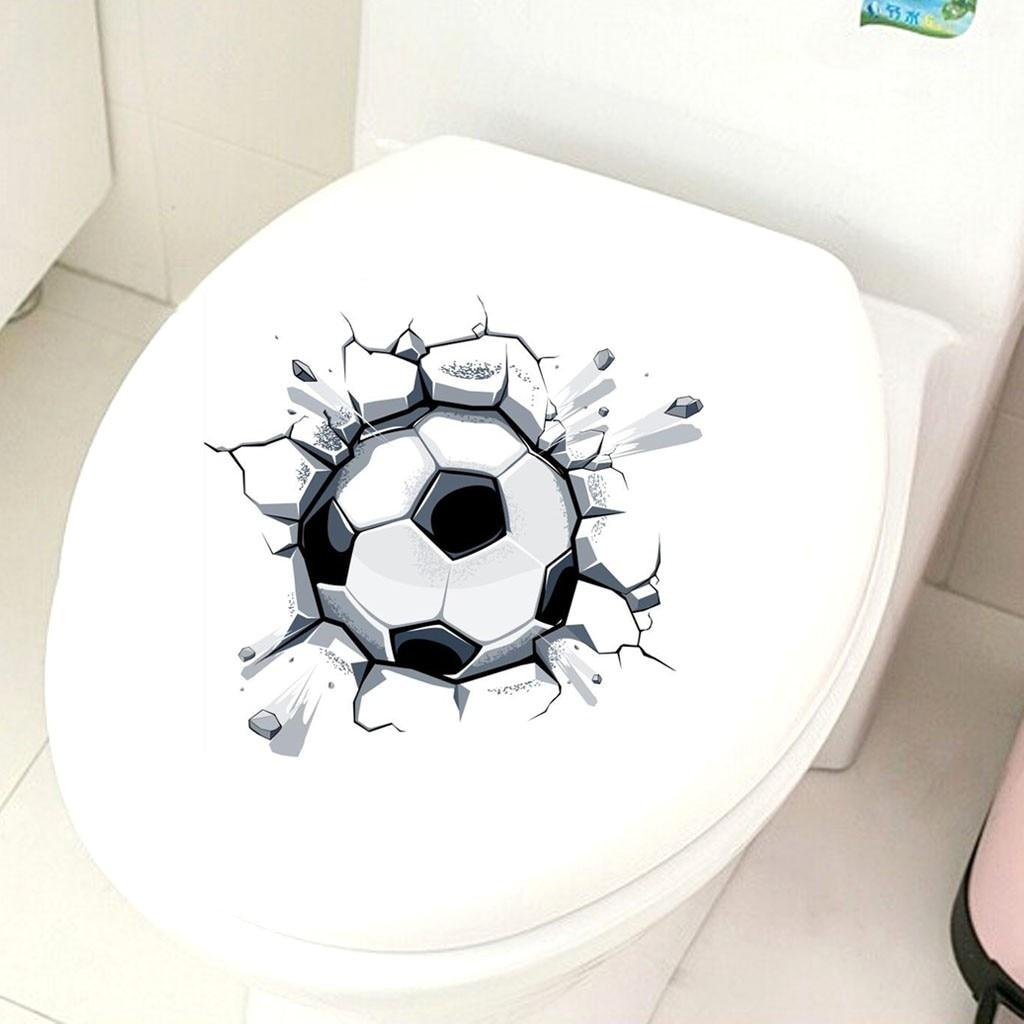 Permalink to door sticker 3D Football Toilet Seat Bathroom Sticker Home Refrigerator Wall Decal Art vinilos decorativos para paredes