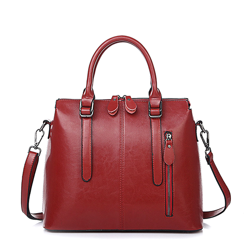 Genuine Leather Bags For Women Famous Brand Shoulder Bags Solid Designer Handba