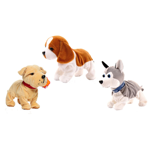 Image 4 - Electronic Pets Sound Control Robot Dogs Bark Stand Walk Cute Interactive Toys Dog Electronic Husky Pekingese Toys For Kids