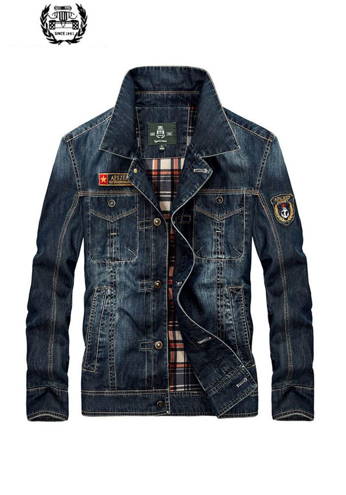 Abbigliamento da uomo M ~ 4XL di Nuovo Modo Retro Giubbotti jeans Mens  Jeans Cappotti Molla ccefc7c3a68