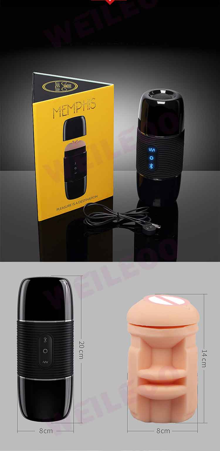 Bluetooth Speaker 8 speed vibrator sex machine male masturbator for man adult sex toy for men
