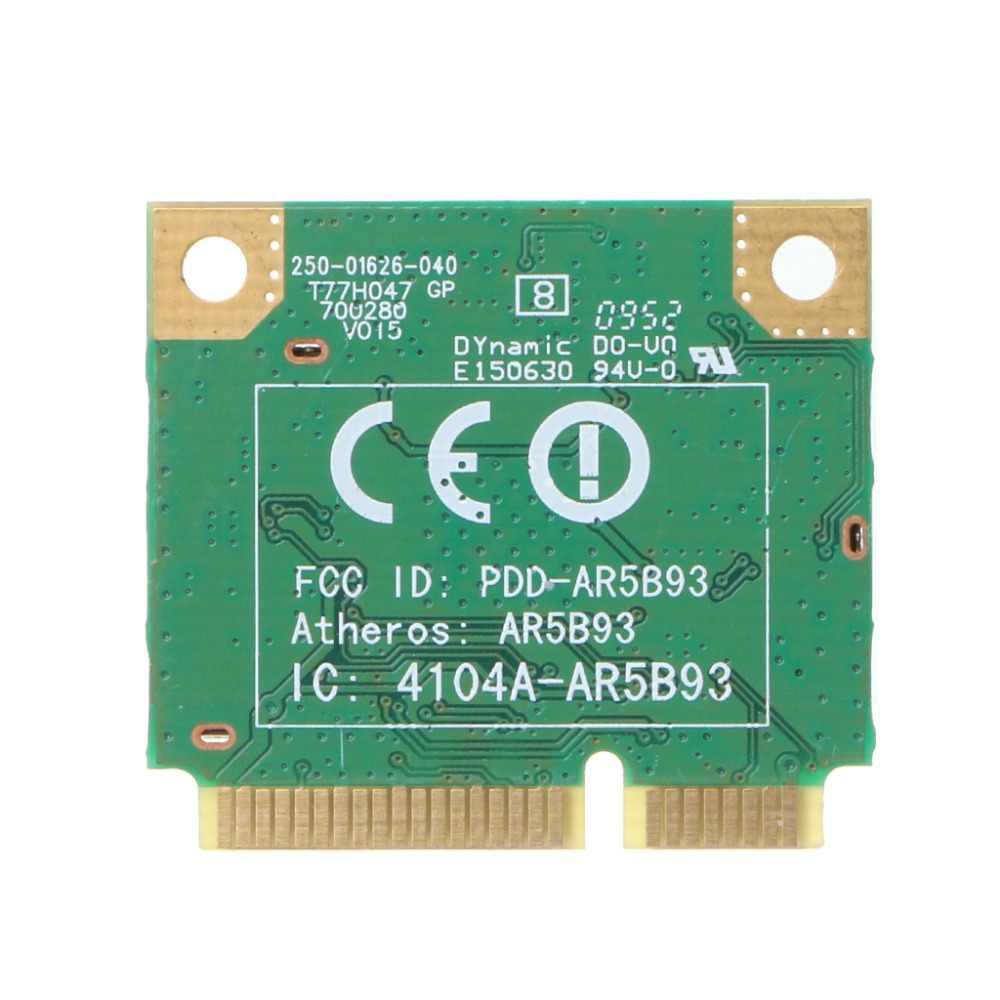 AR5B93 AR9283 media altura Mini PCI-E WLAN WiFi inalámbrico Tarjeta de 300 Mbps para Atheros Jy23 19 Dropship