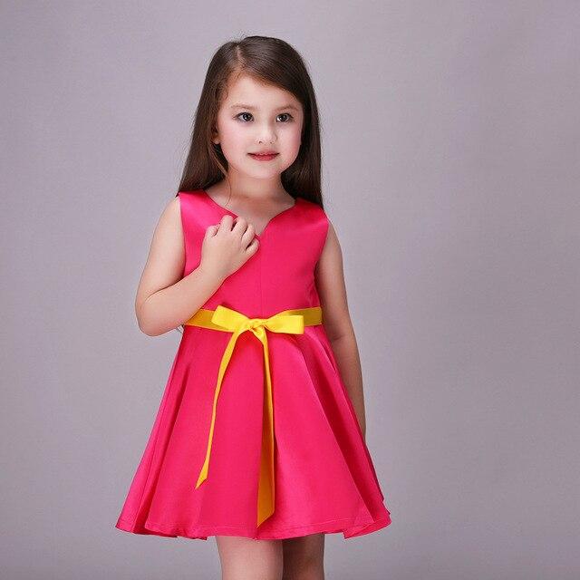 Neue Kleid Kleider Kinder Rot Baby Mädchen Hochzeit Kleid Partei ...