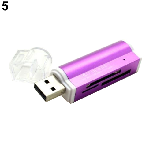 Купить с кэшбэком Hot Multifunctional Lighter Shape USB2.0 Micro SD TF MMC SDHC MS Memory Card Reader 63BE