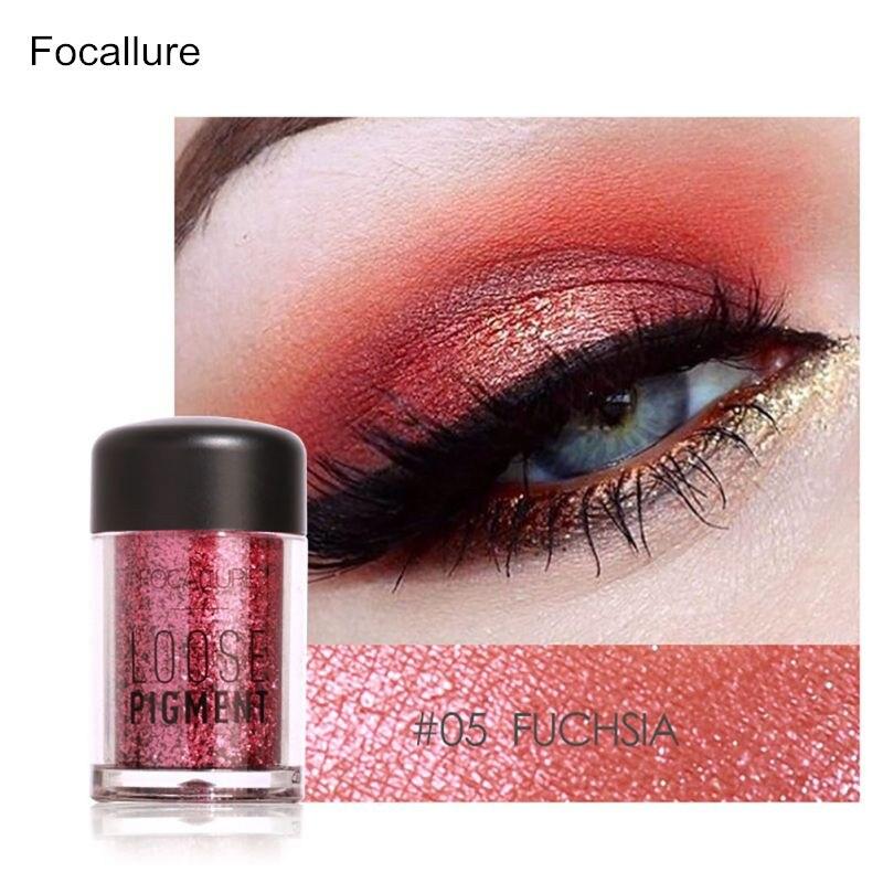 Focallure Pro Макияж блеск для век косметической Макияж Shimmer Пигмент Loose Косметическая пудра Красота maquiagem Тени для век 12 Цветов
