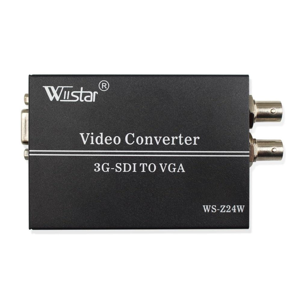 Wiistar convertisseur SDI vers VGA SD HD 3G-SDI vers VGA + 3.5mm adaptateur Audio vidéo pour ordinateurs portables PC
