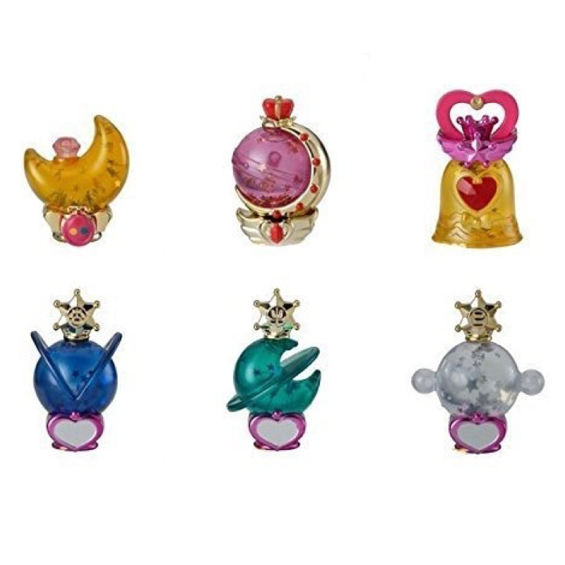 Sailor Moon Gashapon Prism Power Dome Part 2 Water Globe Complete Set 6 100% Original sailor moon capsule communication instrument machine accessory gashapon figure anime toy full set 100