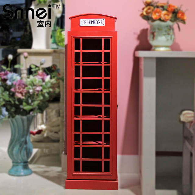 Snnei Indoor Telephone Booth Storage Cabinet Cd Rack Living Room Decoration  Wool Home Decoration