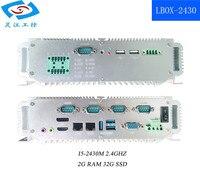 Промышленный Компьютерный Аксессуар mini itx материнская плата I5 2,4 ГГц 2G ram сетевая стойка (LBOX 2430)