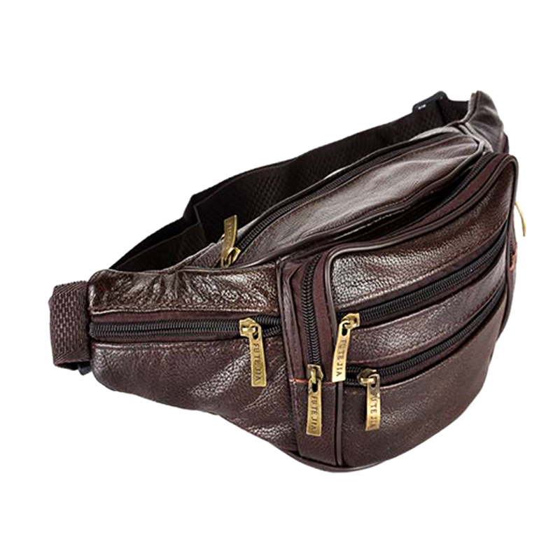 Men Waist Bag Zipper Fashion Solid Color Soft Casual For Mobile Phone Money Outdoor PO66