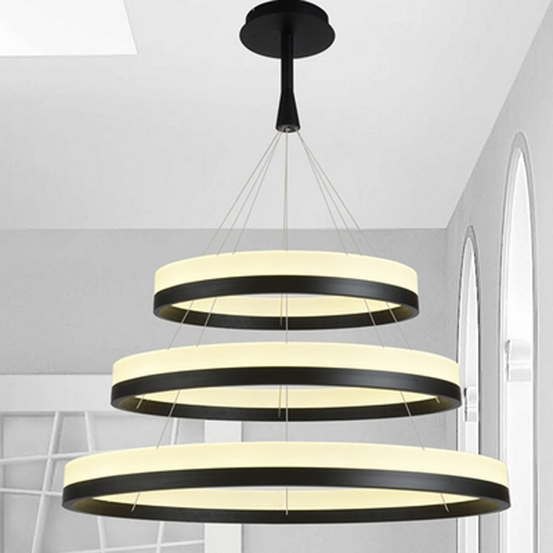 Acrylic LED circle ring pendant light modern minimalist pendant lamp for living room dining room indoor lighting fixture