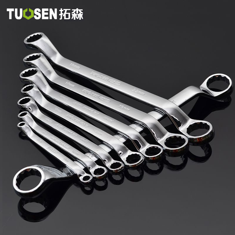 TUOSEN 8pcs/ Set Box End Wrench Dual Head Double End Ring Spanner Deep Offset Ring 6- 24mm 10 Sizes In 1 Set Hand Tool Set