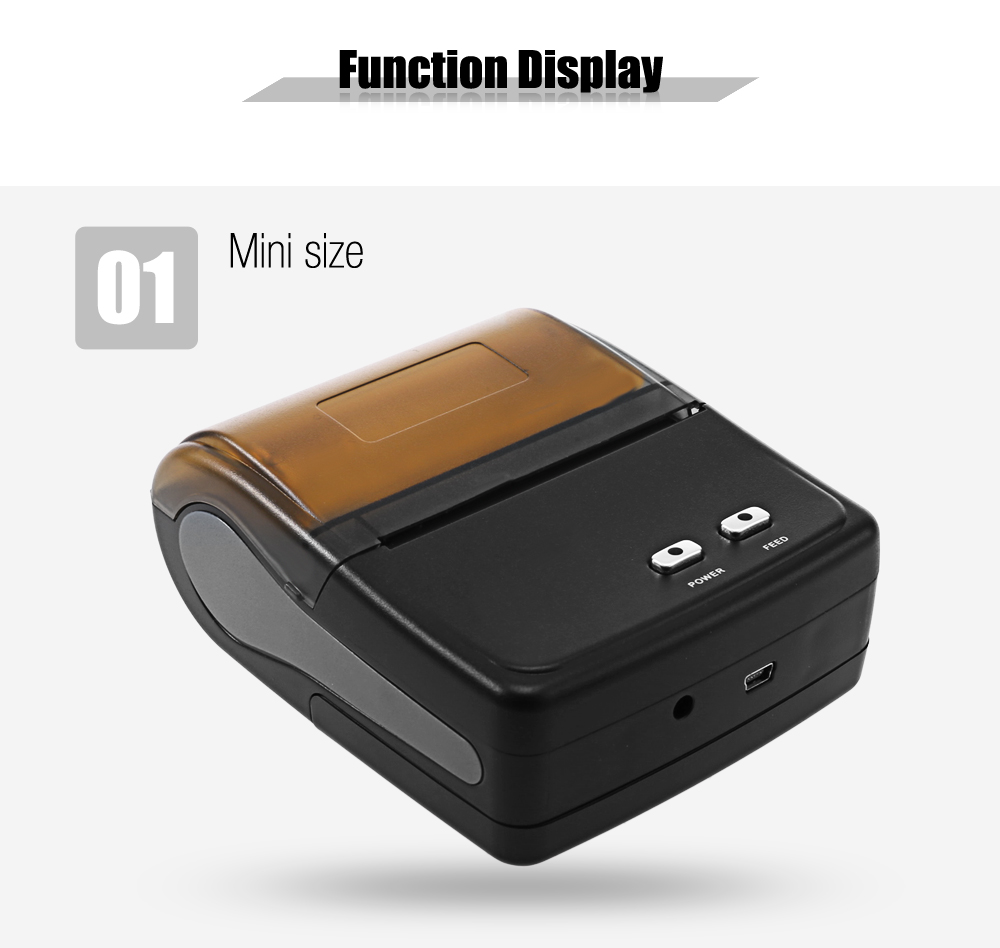 Free shipping 80mm portable bluetooth thermal printer restaurant bill printer receipt thermal printer goojprt mtp 3 portable 80mm bluetooth thermal printer exquisite lightweight design eu plug support android pos multi language
