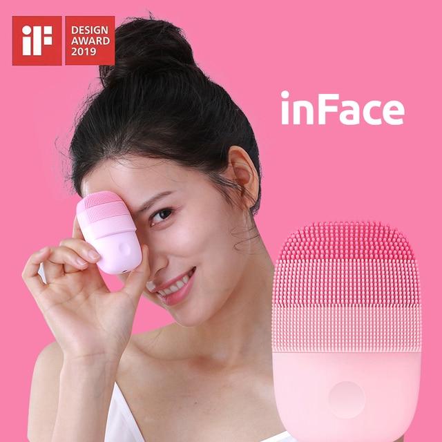جهاز تنظيف صغير من شاومي Mijia inFace منظف عميق أداة تجميل الوجه سونيك أداة تنظيف الوجه والعناية بالبشرة مدلك
