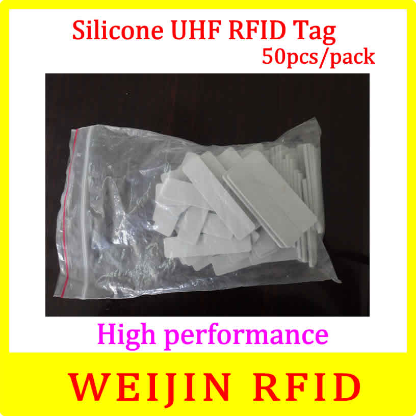 VIKITEK 5813 silicone UHF RFID Tag 50pcs per pack Alien Higgs 3 chip ,Water proof, high temperature resistance free shipping. 50pcs 74 21mm rfid gen2 uhf paper tag with alien h3 chip used for warehouse management