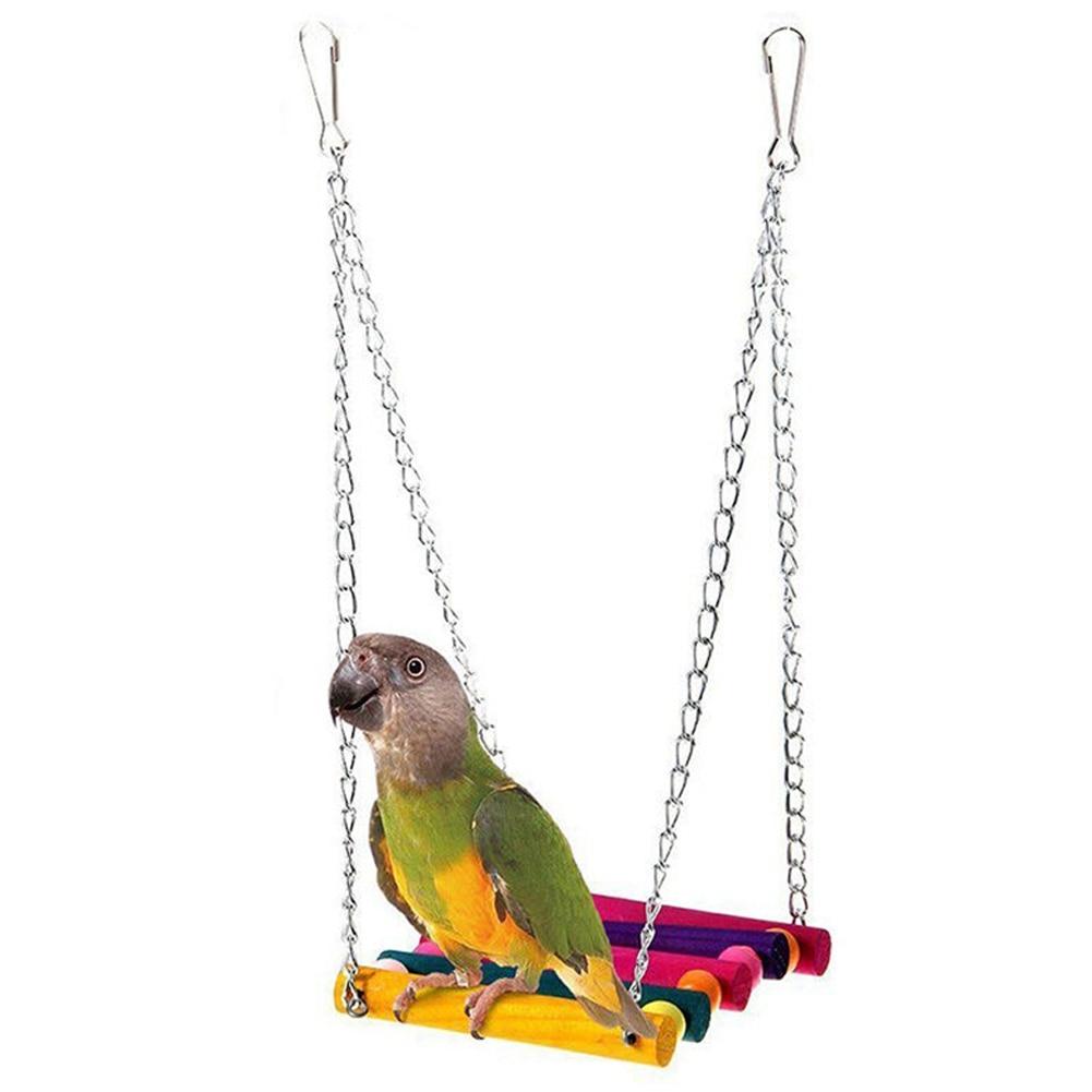 Игрушка для жевания птиц попугай Попугайчик клетка гамак качели игрушка подвесная игрушка