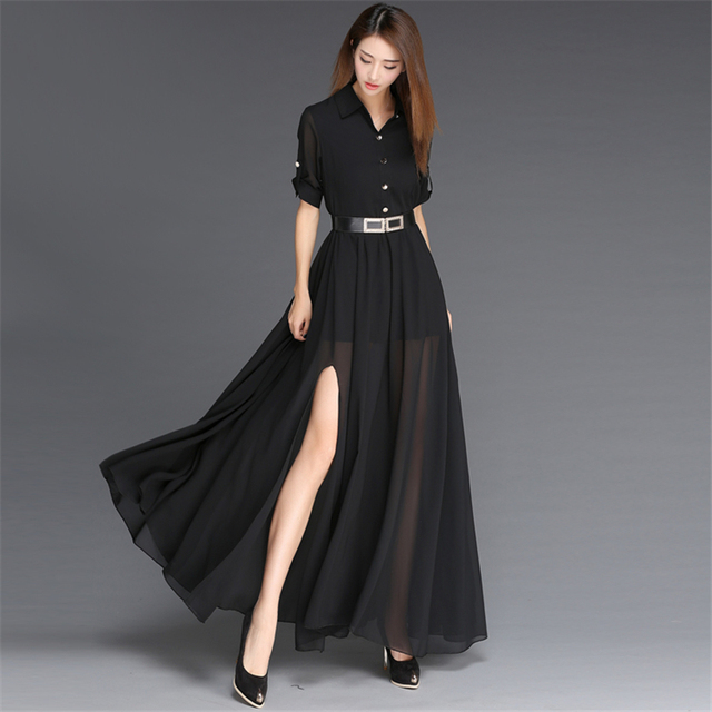 Long blouse dresses