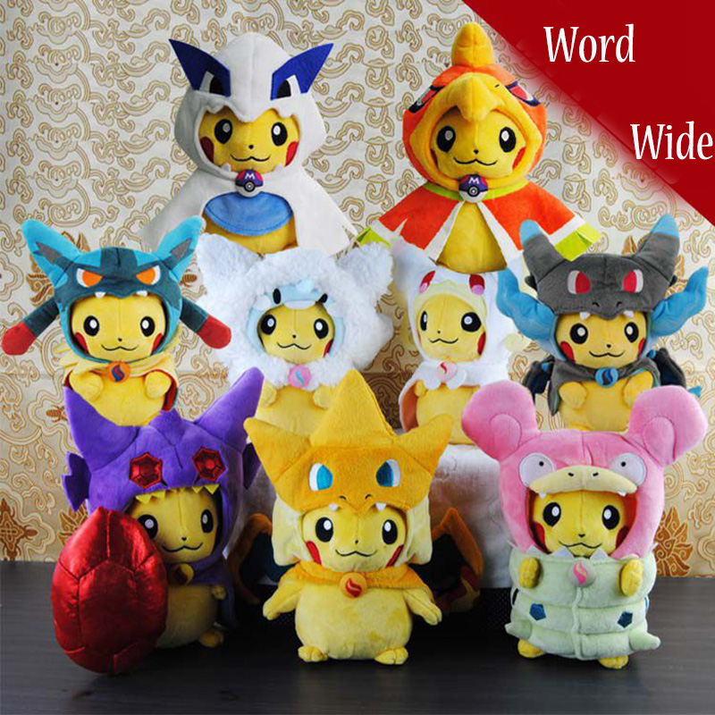 2 Kinds Pikachu Animal Dolls,22 CM Cute Yellow Plush Toys,Soft Doll Baby Toys , Plush Toys Stuffed Doll High Quality Kids Gift stuffed animal 120 cm cute love rabbit plush toy pink or purple floral love rabbit soft doll gift w2226