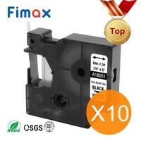 Fimax 10 Pcs Compatible Dymo Industrial Heat Shrink Tube 18051 18052 18053 18054 18055 18056 A1805443 DYMO Rhino Label Printer