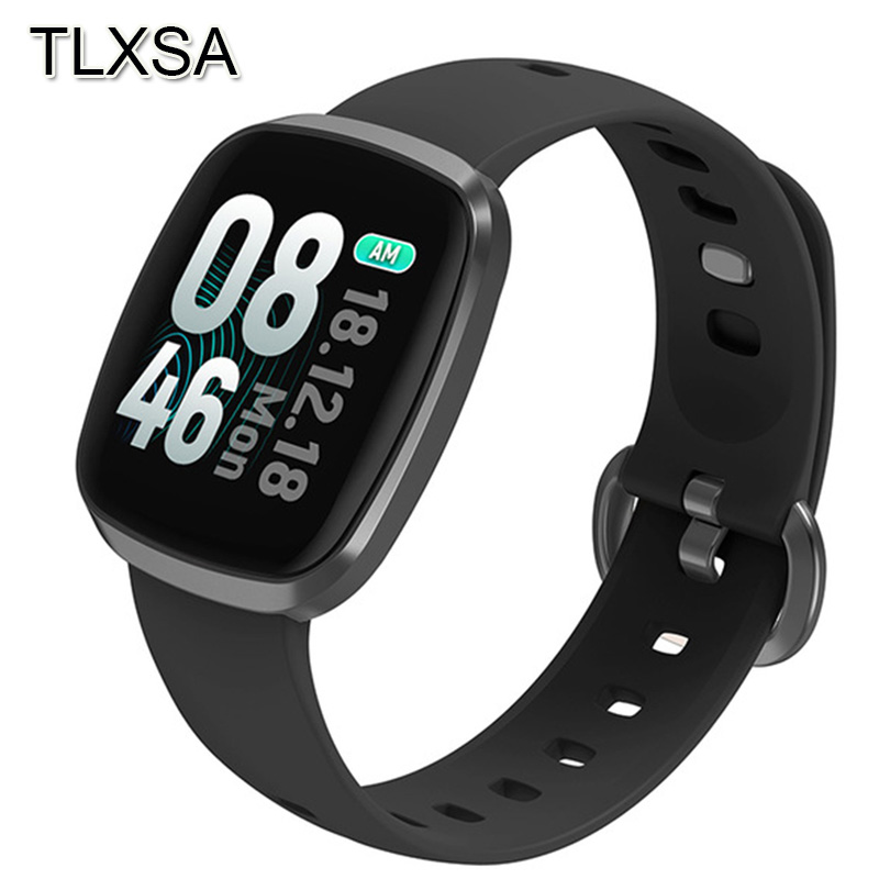 Fitness Tracker Smart Watch Sleep Blood Pressure Heart Rate Monitor Music Control Waterproof Sport Wrist Watch For IOS Android-in Smart Watches from Consumer Electronics