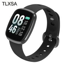 Rastreador de fitness Relógio Inteligente Sono Monitor de Pressão Arterial e Freqüência Cardíaca de Controle De Música À Prova D Água Esporte Relógio de Pulso Para IOS Android