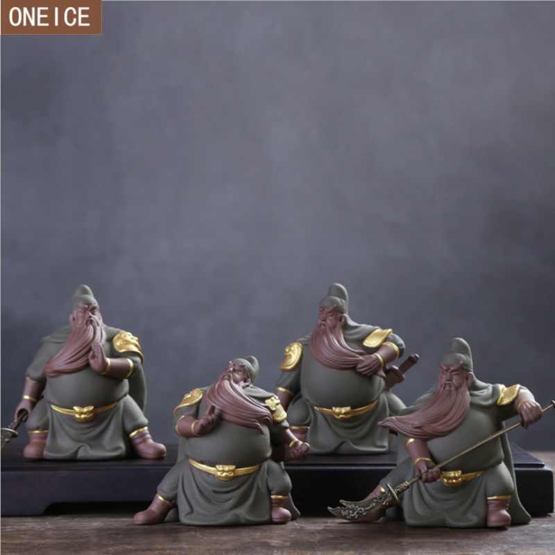 Kreatywny do herbaty Yixing Zisha zwierzęta domowe są Guandi boga chińskie Kung Fu zestaw herbaty do namaczania herbaty filtr do herbaty akcesoria biurowe dekoracji