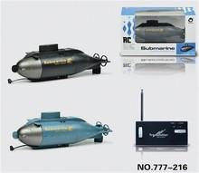 O melhor Presente festival 6 CH RC Submarino Criar Brinquedos Mini Brinquedo de Controle Remoto 6CH RC Submarino Azul Crianças Negras Crianças Divertido presente
