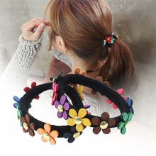 10PCS/lot Colorful flowers Hair Accessories For Women Headband,Elastic Bands For Hair For Girls,Hair Band Hair Ornaments For Kid