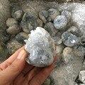 Натуральный голубой Небесный Кристалл кластер минеральный образец для украшения